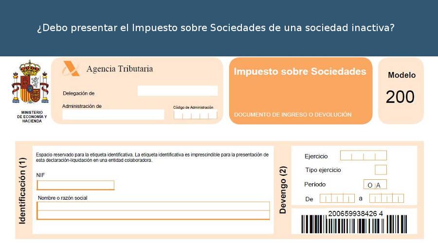 Impuesto Sociedades Empresa Inactiva
